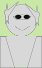 stickfigure for the persona of Josh Hinger. Bald on top, smiling face