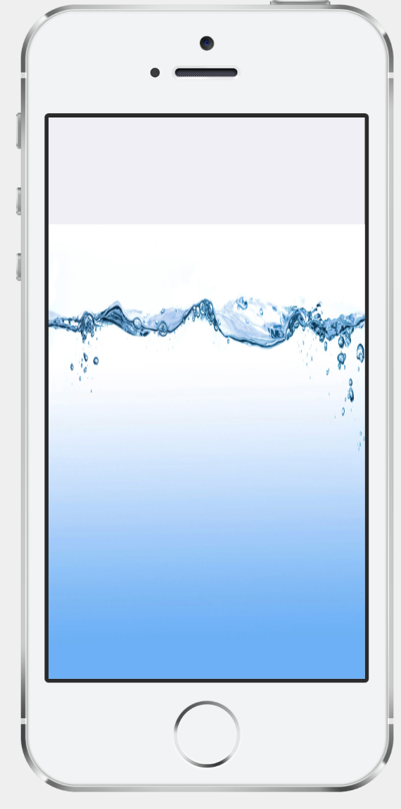 Iphone filled with water