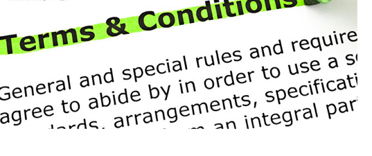 Terms and conditions image - decorative